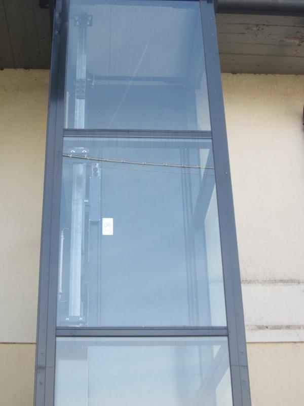 piattaforma elevatrice in vetro per esterno