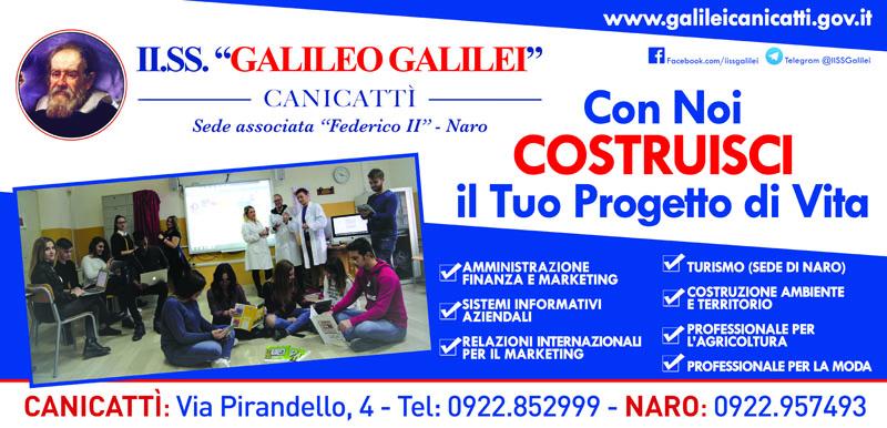 banner pubblicitario istituto scolastico Galileo Galilei
