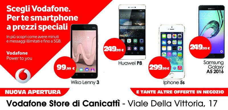 banner pubblicitario smartphone vodafone wiko huawei iphone samsung galaxy