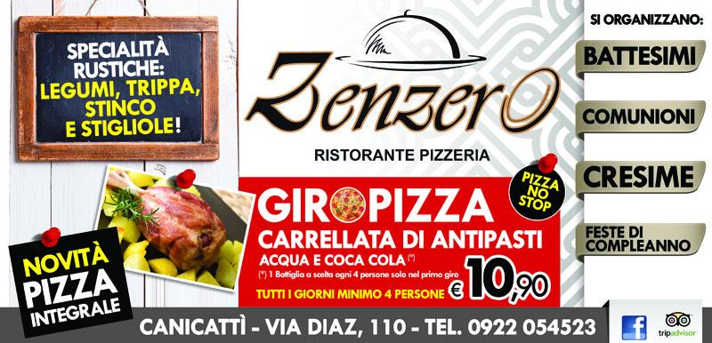 banner pubblicitario zenzero ristorante pizzeria