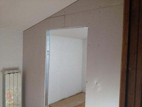 realizzazione di cabina armadio in cartongesso