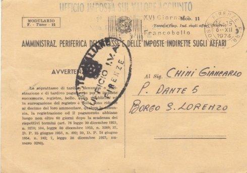 Fronte della cartolina storica dell
