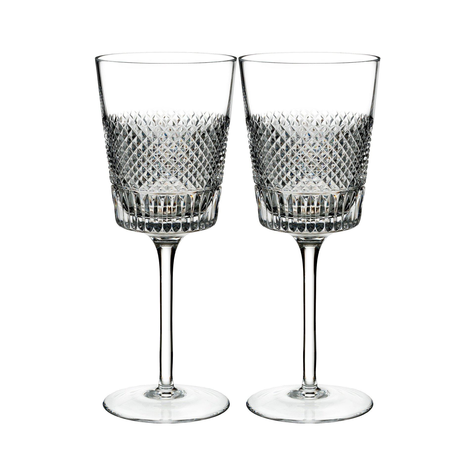 Waterford Diamond Line Wine Pair