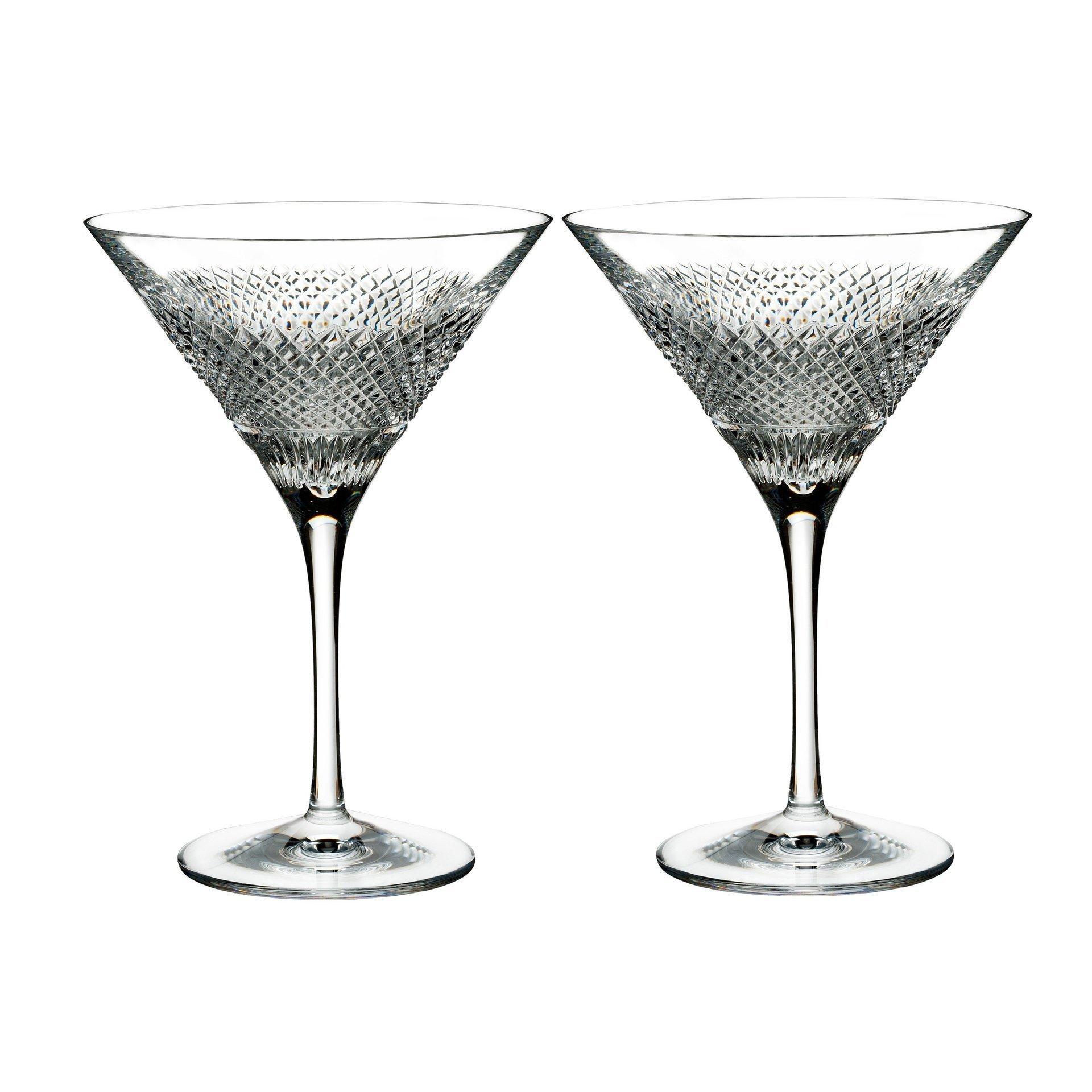 Waterford Diamond Line Martini Pair