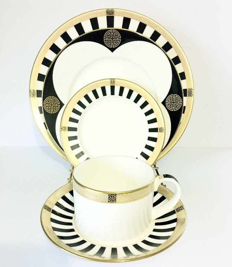 ROYAL CROWN DERBY TABLEWARE SATORI BLACK