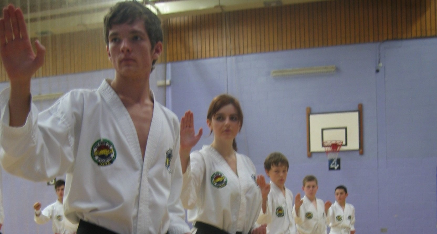 Children in Taekwon-Do