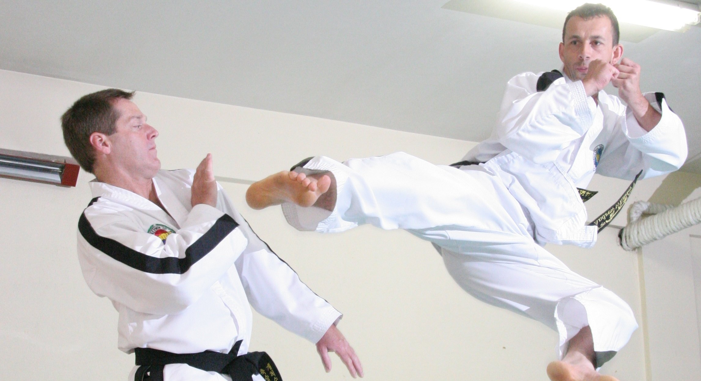 Man training in Taekwon-Do