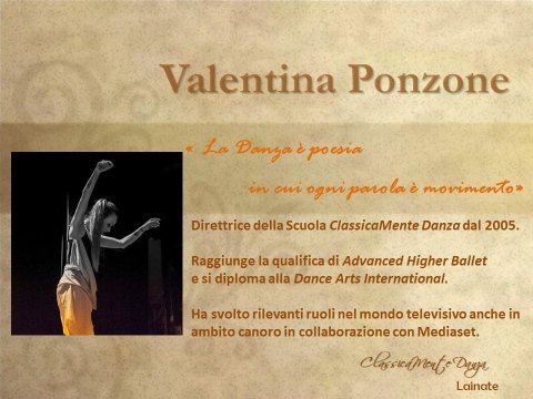 valentina ponzone scuola di danza classica moderna e hip hop