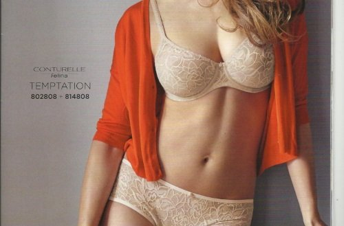 una donna con biancheria intima della marca Conturelle Felina Temptation
