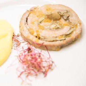 arrosto servito con crema di patate
