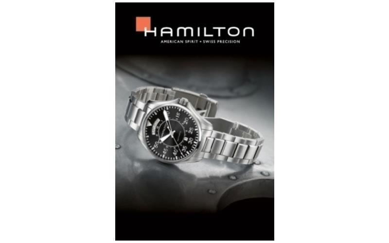 orologi acciaio hamilton