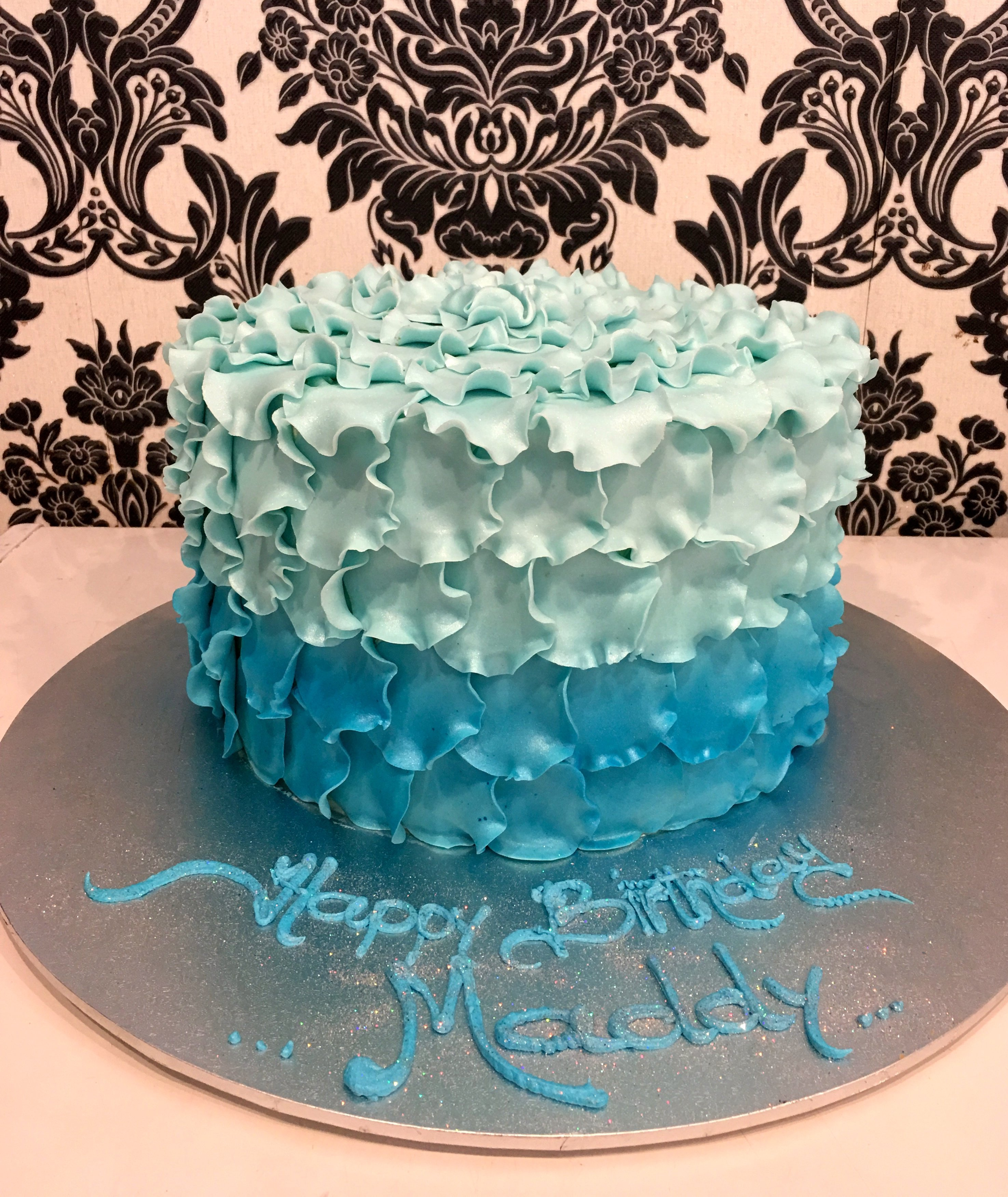 birthday cake with Blue Petals