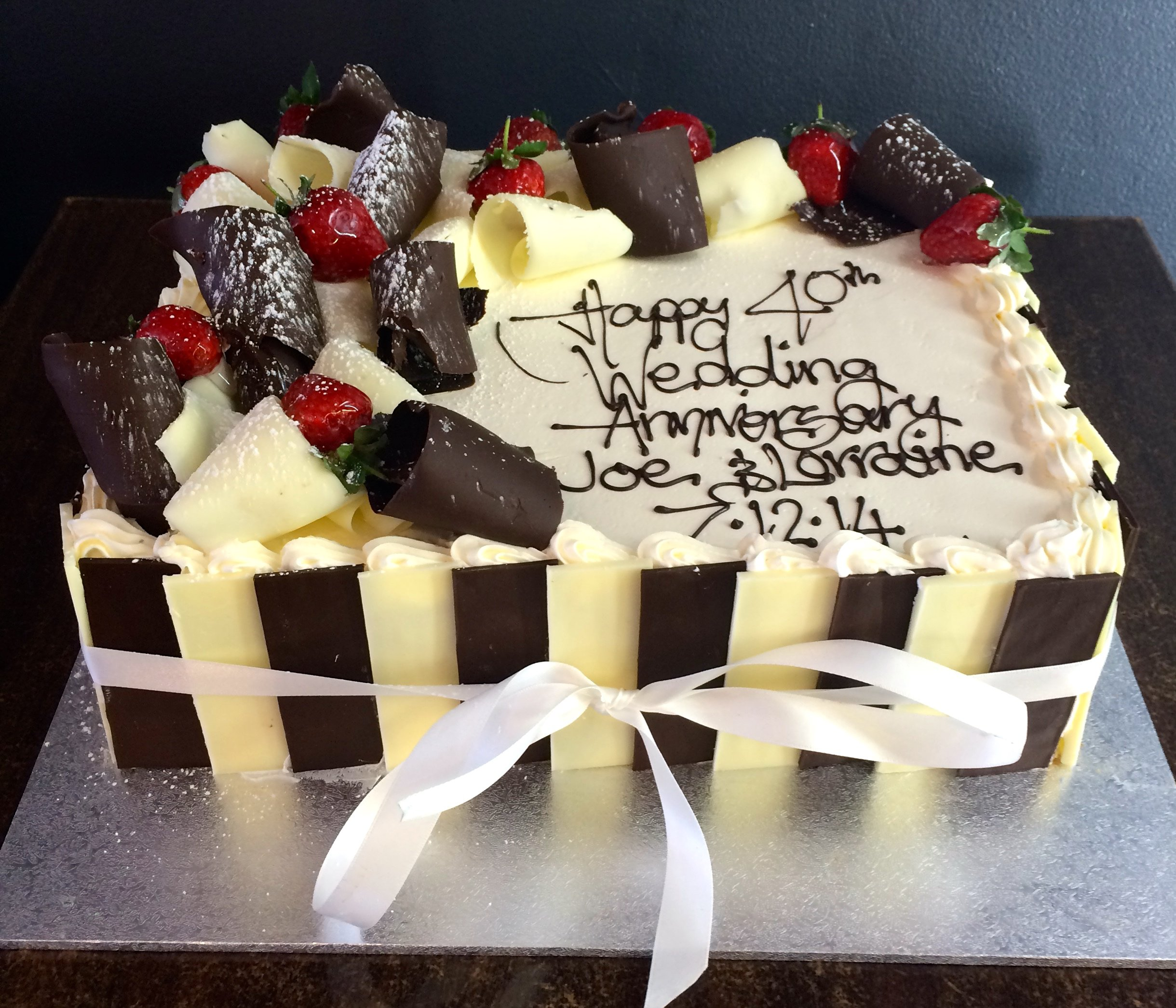 white and chocolate cake with panels