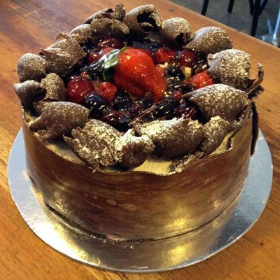 Fruits of the Forest chocolate cake