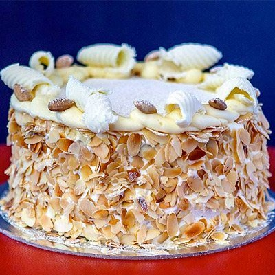 Italian torta with flaked almonds