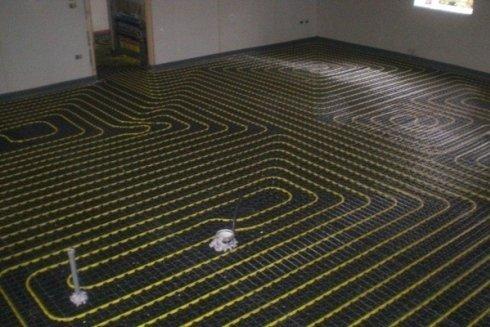 Esempio di impianto di riscaldamento a pavimento.
