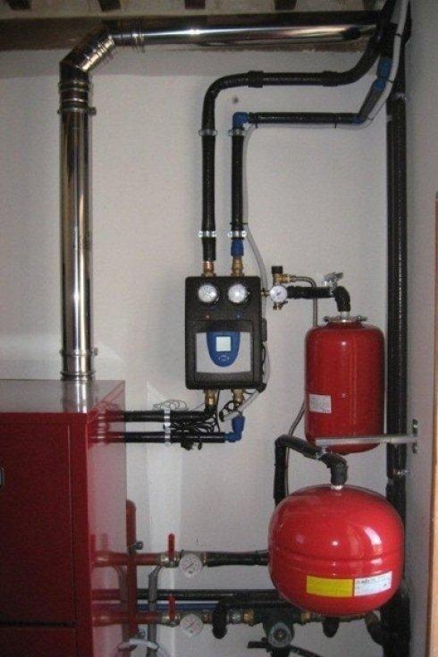 Impianto con caldaia installato dalla ditta.