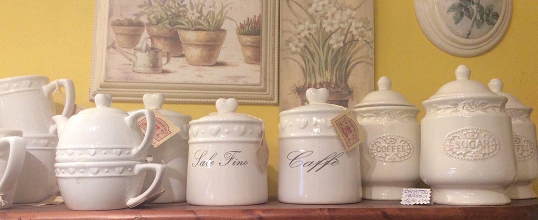 set di tè e caffè in ceramica