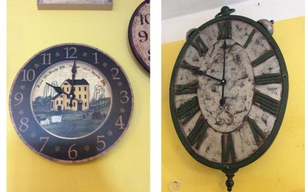 due orologi vecchi sulla parete