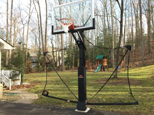 Pro Dunk Silver basketball system Installation Service in Laurel MD