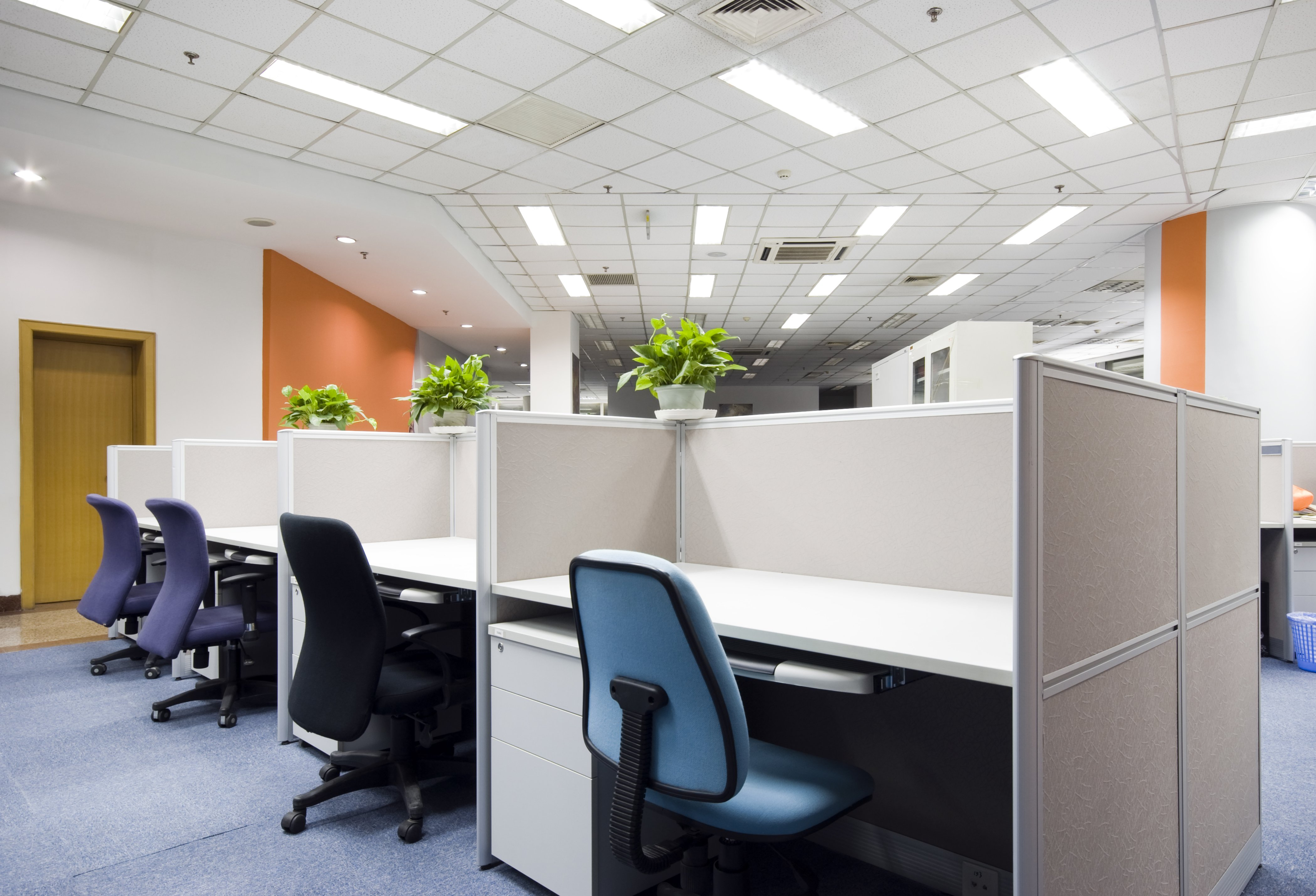 modern office cubicles assembly