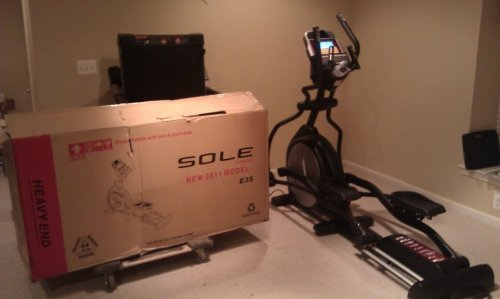 Sole E35 Elliptical Machine Assembly and Installation Service in Annapolis Maryland