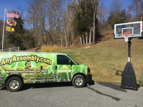 Spalding Portable Basketball System Assembly and Installation in Crofton MD