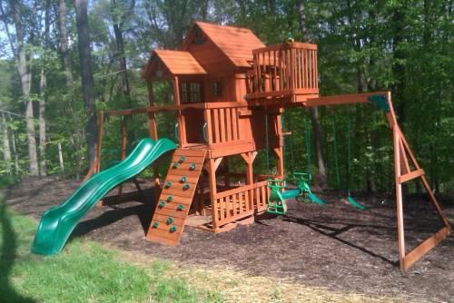 Backyard swing play set assembly service in Washington DC