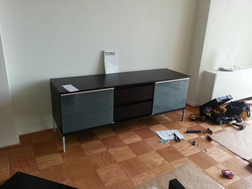 IKEA TOBO TV Unit Assembly Service in Bristow VA