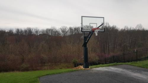 Pro Dunk Diamond Basketball System Professional Installation Company in Great Falls VA completed by Any Assembly Team