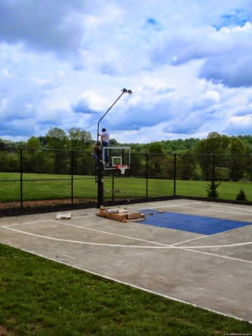 Goalrilla DC72E1 with light kit professional installation services  in Westminster MD by Any Assembly Team