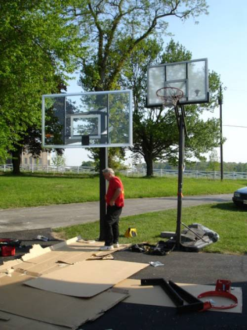 Goalrilla CV72S In-ground basketball goal Installed and Assembled in Rockville MD by Any Assembly Team
