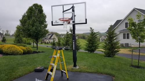 Silverback 60 in-ground basketball system professional installation  services in Frederick MD by Any Assembly Team