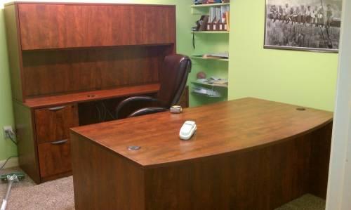 Bush L shaped desk w/ hutch assembly service in Bowie MD