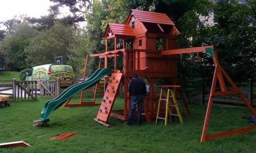 Backyard Swing Play Set assembly service in Chantilly VA