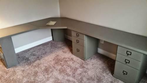 Office corner desk assembly service in Bethesda MD