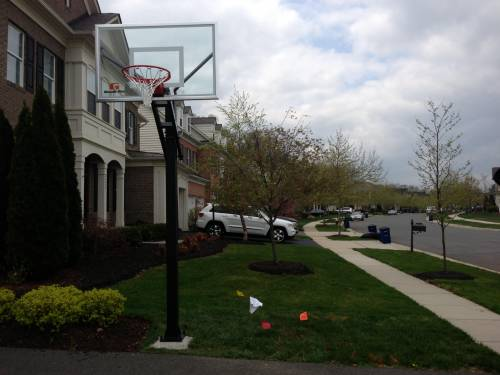 Goalrilla CV54 Basketball System Installation with Ground Anchors in Olney MD by Any Assembly Team