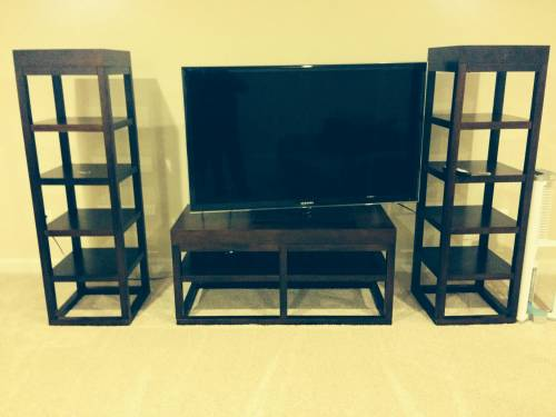 TV Media Organizing Stand with towers by Any Assembly Service in Westminster MD