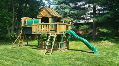 Costco swing set assembly in Crofton MD