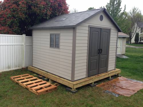 Storage Shed Installation