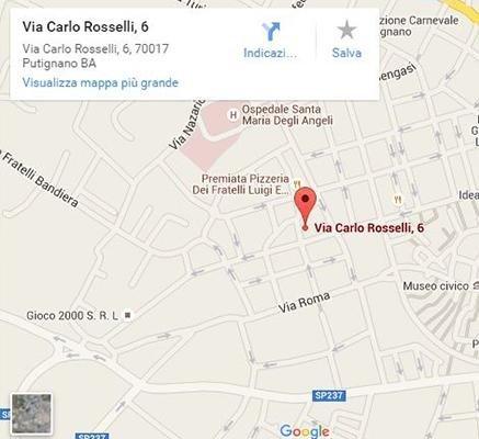www.google.it/maps/place/Via+Carlo+Rosselli,+6,+70017+Putignano+BA/@40.8501542,17.1169484,17z/data=!3m1!4b1!4m2!3m1!1s0x1347b0be0a613703:0x40747e0bcd1cfb6b