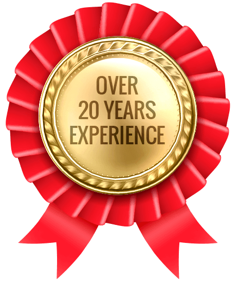 over 20 years experience logo