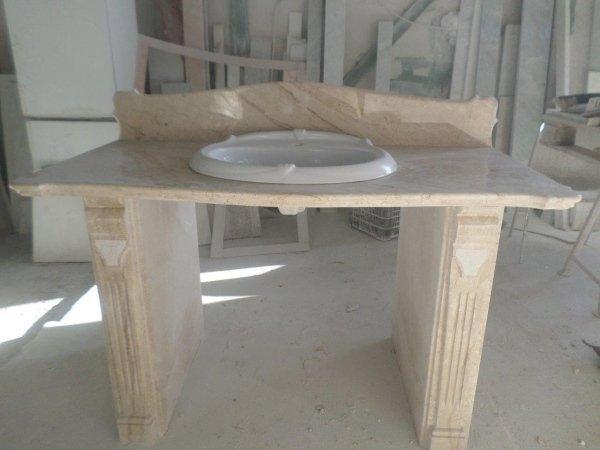 Top bagno in marmo Daino