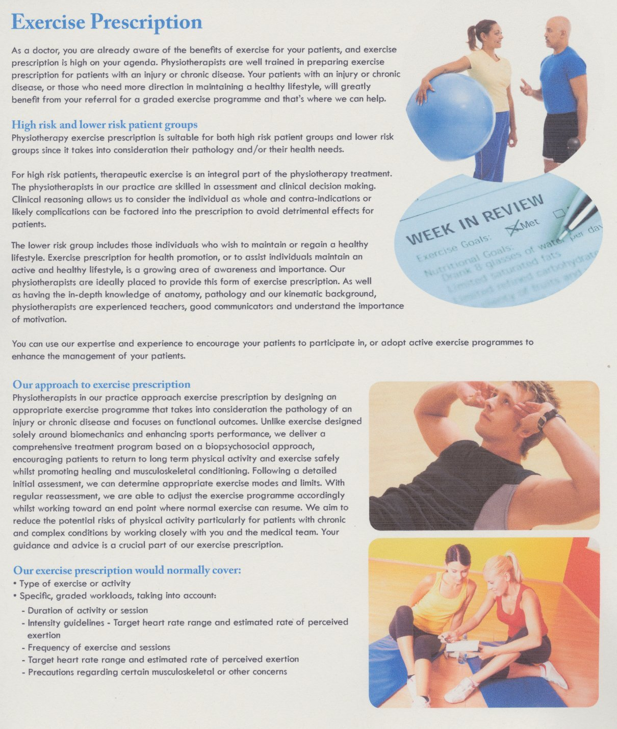 Exercise prescription p1