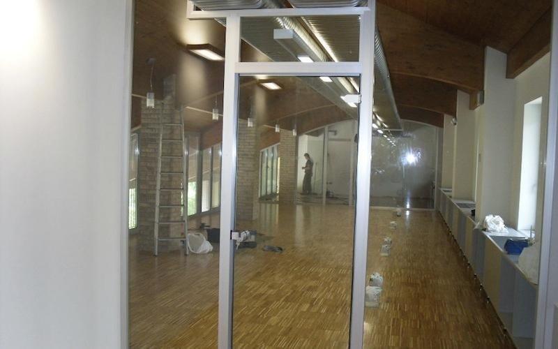infissi alluminio per grandi spazi