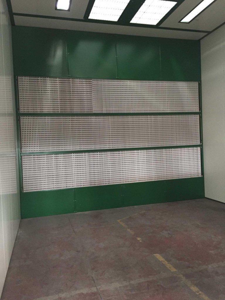 Cabina verniciatura polveri PVC - particolare parete