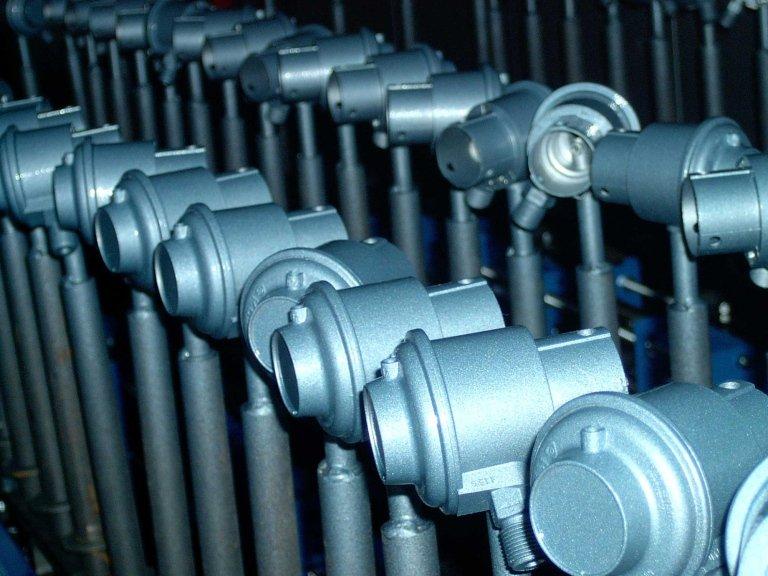 Linea verniciatura riduttori gas