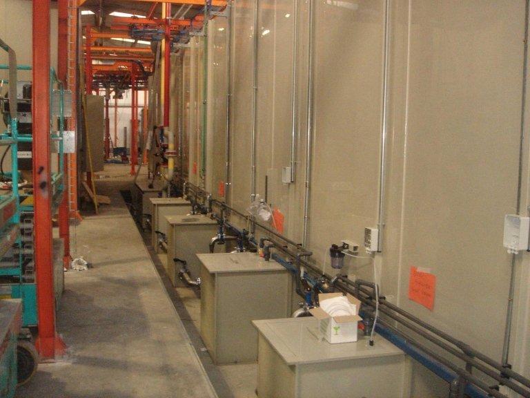 Particolare tunnel di trattamento 6 stadi in PPE