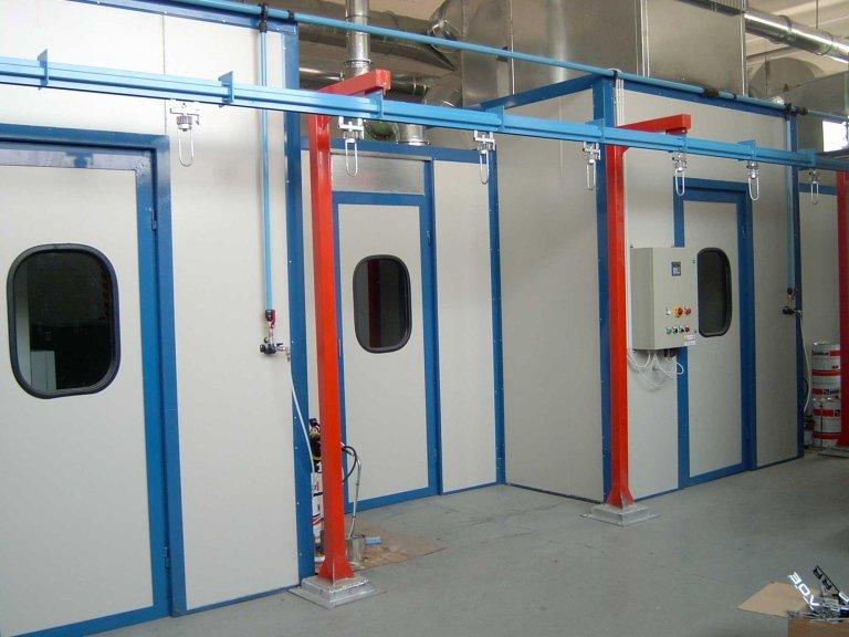 Cabine di verniciatura pressurizzate