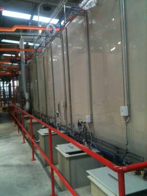 Particolare tunnel di lavaggio in PPE